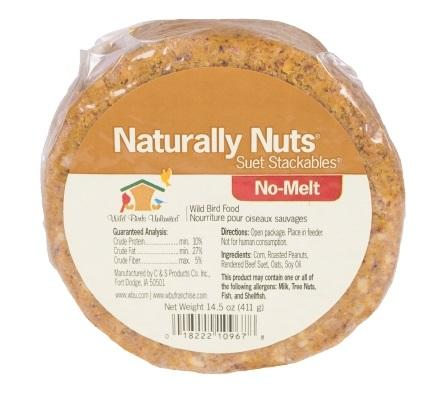 WBU Naturally Nuts® No-Melt Suet Dough Stackable