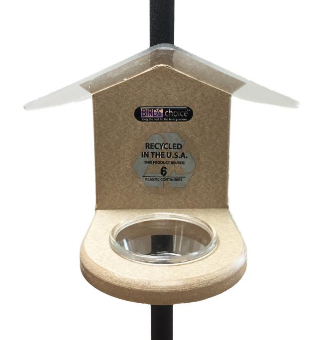 Recycled Pole-Mounted Mealworm Feeder