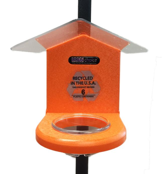 Recycled Pole-Mounted Jelly Feeder