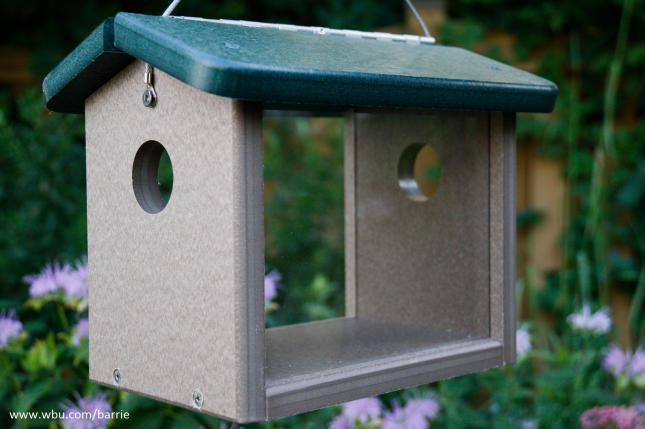Recycled Hanging Mealworm Feeder