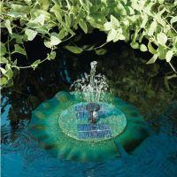 Floating Lily Solar Birdbath Fountain