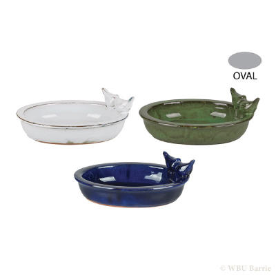 Ceramic Table Birdbath - Oval