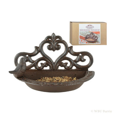 Cast Iron Wall Mounted Birdbath – Short