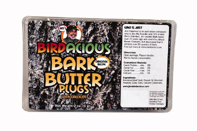 Jim's Birdacious® Bark Butter® Plugs